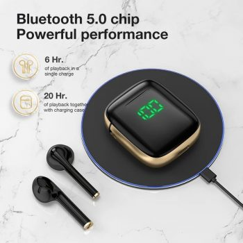SANLEPUS TWS Bluetooth 5.0 Earphones Wireless Headphones With Wireless Charging, Led Earbuds Headset For Android Phones and iPhone